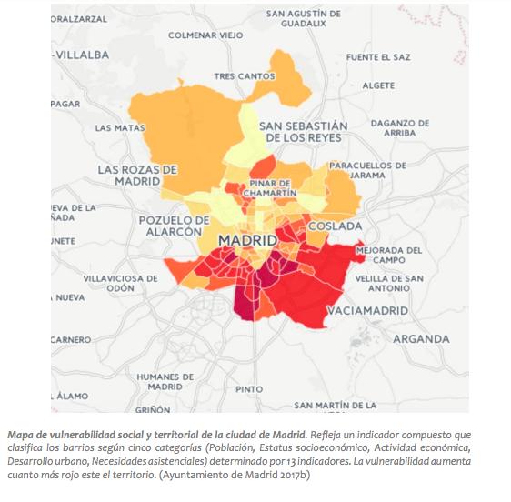 Vulnerabilidad social en el municipio de Madrid
